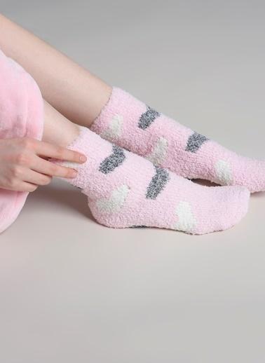 Dagi Kadın Ev Çorabı 2'li Pembe